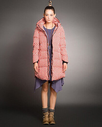 Wholesale Polka Dot Coat Women S - Top Sale Winter Women Coats Jackets Plus Size 5XL 2015 New Fashion Women Duck Down Long Dots Overcoats Hooded Thick Ladies Coat