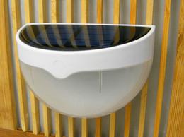 En gros 6 LED Capteur Solaire Alimenté Lumière Extérieure Lampe LED Mur Lumière Jardin Lampe ABS + PC Couverture Couleur Paquet Accueil Escalier CE / RoHS approuvé ? partir de fabricateur