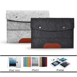Wholesale Drop Laptop Sleeves - Case Cover for Apple iPad 2 3 4 5 6 Air mini Felt Sleeve Handle Laptop Sleeve Pouch Cover Bag for iPad 2 3 4 iPad Air mini Case
