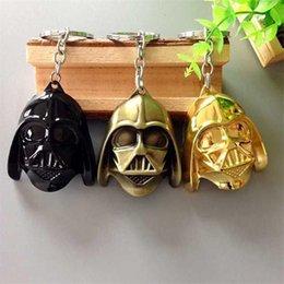 Wholesale Darth Warrior - Cartoon Movie Star Wars keychain black knight Dark Warrior Darth Vader Keychain key ring Zinc Alloy Keychains retail packaging BY DHL 240267