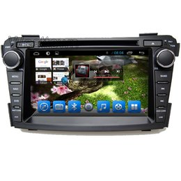 Wholesale Double Tv Tuner - Double din android 4.4 car dvd player head units with 3g wifi touchscreen radio rds for Hyundai I40