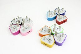 Wholesale Colorful Uk Plug Usb Charger - UK Colorful 1A Wall Charger Adapter UK Plug USB home Travel adapter multi charging for iPad 2 Air iphone 6 5 5S Samsung Galaxy S4 Note 2 3