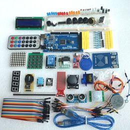 Wholesale Shipping Starter Kit - Free shipping mega 2560 r3 starter kit motor servo RFID Ultrasonic Ranging relay LCD for arduino