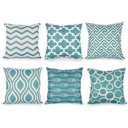 fashion decor pillows wholesale 2018 - high quality Top Nordic Decorative fashion Cushion Covers Cotton Linen Throw Pillow Cover for Sofa Decor Scandinavian Style Pilow Cases