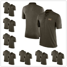 Wholesale Polo Xxl - Men's Kansas City Los Angeles Miami Minnesota New England New Orleans New York Oakland Salute to Service Sideline Olive Polo Shirt