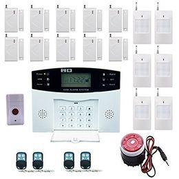 2019 alarme de zone à la maison Haute efficacité système de sécurité 99 + 8 zone d'alarme automatique GSM SMS Accueil Cambrioleur de sécurité sans fil Gsm système d'alarme Détecteur Capteur Kit Remot alarme de zone à la maison pas cher