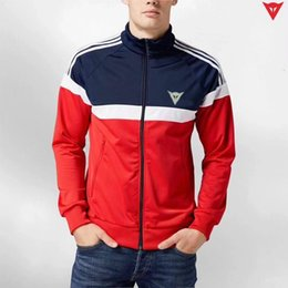 Wholesale Sweater Jackets For Men - 2018 New Motorcycle Racing Jersey Cloth Reflective Zipper Collar Sweater Windbreaker Warm Cotton garment Motorcycle Jacket for Dainese