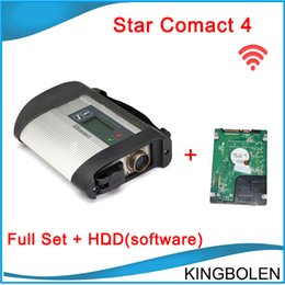 Wholesale Star Sd Connect C4 - Newly MB Diagnostic tool for Mercedes Benz MB Star New Compact 4 2014.07 Version support more than 20 languages SD Connect C4 with WIFI