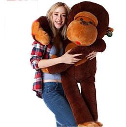 Animais de pelúcia gigantes on-line-80 CM recheado macaco brinquedo macaco de pelúcia macaco Gigante animal de pelúcia Presente do Valentim para Meninas Frete grátis