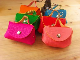 Wholesale Wholesale Leather Organizer - Hot selling popular mini PU leather Handbag keychain bag Coin wallet Purse change pocket holder Sorter