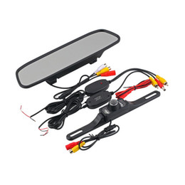Wholesale Wireless Reverse Parking Sensors - Car Rear View Camera Kit 4.3inch Car TFT LCD Monitor Mirror+Wireless Reverse