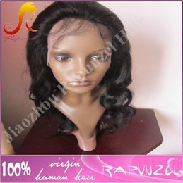 Wholesale Men Long Dark Hair - Top quality body wave brazilian hair cheap lace front wig for black man in stock