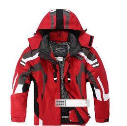 2020 мужские лыжные костюмы Осень-черный серый новый мужской лыжный костюм куртка пальто водонепроницаемый сноуборд одежда лыжный костюм куртка SML XL XXL размер скидка мужские лыжные костюмы