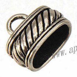 Wholesale End Cap For Bracelets - end cap for bracelets jewelry leather antique silver large hole new diy fashion jewelry accessories and findings bead caps 13*15mm 100pcs