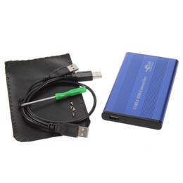 Custodia esterna per hard disk USB 2.0 da 2,5 pollici Custodia esterna per driver hard disk in alluminio-magnesio da