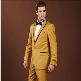 Wholesale Mens Dress Burgundy Suit - mens tuxedo new real Black man's wedding groom dress custom suitable for formal occasions 2 pieces (coat + trousers)