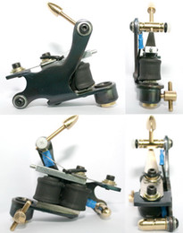 Wholesale Steel Art Stamp - Professional Casting Iron Tattoo Machine 10 Wraps coil stainless steel Tattoos Body Art Gun Makeup Tool 1100707-1