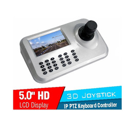Wholesale Axis Ip Cameras - Security System Mini 3 Axis Dimension Joystick PTZ Keyboard Controller For IP Speed Dome camera Controller With RS485 Connector