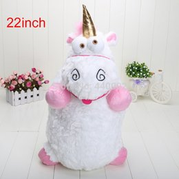 Wholesale Despicable Unicorn Pillow Plush - 15pcs Lot 22inch high quality Despicable Me Fluffy Unicorn Plush Pillow Toy Doll big Fluffy figure gift