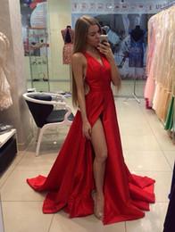 2019 concurso de ropas Una línea de cuello en V robe de soiree Prom vestidos de noche de tafetán elegante vestido de dama de honor vestido de las muchachas del desfile de vestidos formales concurso de ropas baratos