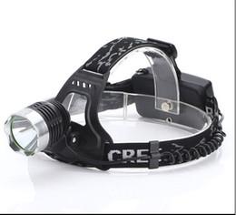 Wholesale Xml U2 Flashlight - Drop shipping CREE XML T6 U2 LED 2000 lumens Aluminum alloy Headlamp Head Torch Lamp light Flashlight 3 Mode black new+ AC Charger