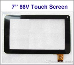 Wholesale Phones Parts - Touch Screen Display Glass Digitizer Digitiser Panel Replacement For 7 Inch 86V Phone Call Allwinner A13 A23 A33 Tablet PC Repair Part MQ50