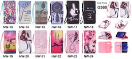 Wholesale Galaxy S4 Case Cartoon - Cartoon Wallet PU Leather Pouch Case Flower Card Stand Rope Have a nice day For Samsung Galaxy Core Prime G360 Grand G530 S3 S4 S5 mini skin