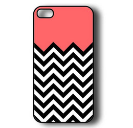 Wholesale Iphone 4s Hard Shell Cover - Wholesale Red Coral Plus Chevron Thin Shell Hard Plastic Mobile Phone Case Cover For iPhone 4 4S 5 5S 5C 6 6 Plus