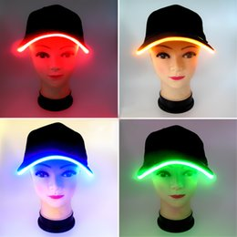 Wholesale Light Up Christmas Ornaments - New Design Light up Adult Ball Hat Cap LED Light up Hat Hands Ornament Hats Dancing Party Hat stage Caps Christmas Holiday
