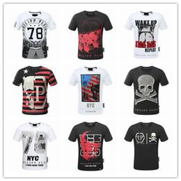 Wholesale T Shirts Cotton Modal - Men's Summer men P T-shirt Design Fashion Medusa Skulls Print DS Hip Hop Short Sleeve Cotton Casual Robin Tops