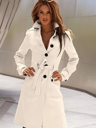 Wholesale Women Blazer V Neck - 2016 Spring Fashion Womens WOOL Cashmere Long Winter Coat Blazer Outwear