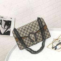 Wholesale Vintage Ladies Handbags - Vintage Women Lattice Check Crossbody Bag Fashion Female Chain Flap Lady Snake Head Handbag For Any Occasion Retro Daily Shoulder Bag