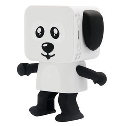 Wholesale Dog Musical - New Wireless Bluetooth speaker lovely little Dance Robot audio mini dog portable speaker Children toys Dancing speaker Christmas gift toys