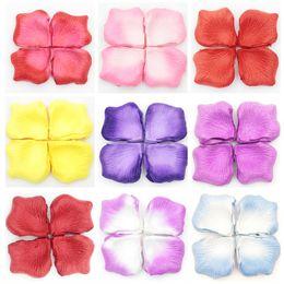 Pétalas roxas para decorações de casamento on-line-2015 Pétalas De Casamento Colorido Coral Vermelho Rosa Roxo Flores Artificiais Flores Do Casamento Flores De Noiva Decorações Acessórios Do Casamento