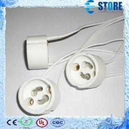 Wholesale Base Socket Adapter - GU10 Lamp Holder Socket Base Adapter Wire Connector Ceramic Socket for LED Halogen Light Free Shpiping