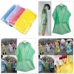 Wholesale Emergency Disposable Raincoat - Disposable Raincoat Adult One-time Emergency Waterproof Hood Poncho Travel Camping Must Rain Coat Outdoor Rain Wear 1000pcs OOA3356