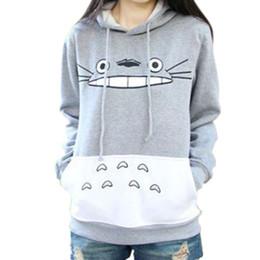 Wholesale Totoro Clothes - Wholesale- Casual 3D Sweatshirt Women Men Winter Clothing Cartoon Totoro Print Moleton Feminino Hoodies O-neck Pullover Tops