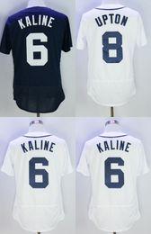 Wholesale Al Kaline Baseball - MENS 6 Al Kaline 8 # Upton Baseball Jersey White NAVY Fashion Flexbase Jerseys Free Shipping