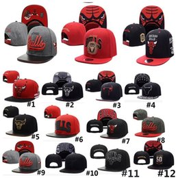 Wholesale Dance Team Wholesale - Unisex Bulls Snapback Ball Caps for Men Women Adjustable Basketball Baseball Hat Hip-Hop Dancing Caps Chicago Team Hats Free DHL