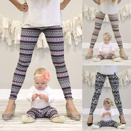 Wholesale Baby Knit Knitting Pants Leggings - Baby Girl Moms' Family Legging Tighter Jacquard Printing Knitting Fabric Cotton 4 Sizes Kids 5 Sizes Mother Tight Pants 1-12T