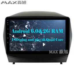 "Wholesale Hyundai Gps - HD 9"" 2G RAM 16G ROM Android 6.0 Car DVD Player for Hyundai tucson ix35 2015 2016 with Radio BT WIFI SWC"