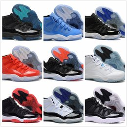 Wholesale Womens Embroidered Boots - Wholesale retro 11 Basketball Shoes space jam retro 11 JXI Sports Shoes Pantone legend Bred Sneakers Womens Athletics Cheap Shoes Men Boot