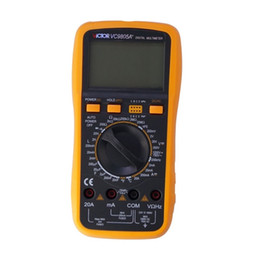 Wholesale Victor Multimeter - DMM Victor VC9805A+ Handheld Digital LCR Multimeter Capacitance Inductance Resistance Meter With Thermometer C F