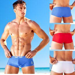 Wholesale Low Rise Swimming Trunks - 2015 Mens Swimwear Swimming trunks Sexy Men Swimsuit boxer low rise Swimwear briefs man beach Shorts sunga de praia masculinas