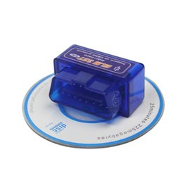 Wholesale Obd Ii Bluetooth Support - Wholesale-2015 Hot Sale Bluetooth ELM327 Supports All OBD-II Protocols Works On Android Torque Super Mini ELM 327 With Newest Version V2.1
