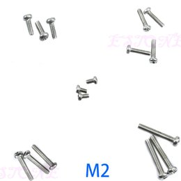 Wholesale Round Nuts - Wholesale- E74 50Pcs M2 3 4 Bolt Screw Nuts Round Length 4-12MM Diameter 2-4mm & M4 M2 Hex Nuts