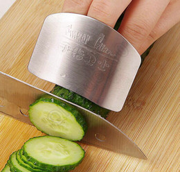 Wholesale Chop Cut - 50PCS HHA483 2016 Stainless Steel Metal Finger Guard Protector Kitchen Knife Chop Cook Cut High quality