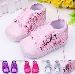 Wholesale Wholesale Sequin Shoes - 2015 kids parkling sequins baby shoes, first walker toddler shoes A001