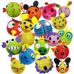 forme di lanterna di carta Sconti Bambini Lanterne fai-da-te a forma di animale cartone animato Lanterne di carta portatili per articoli di decorazione di festa Molti stili 7 41be C