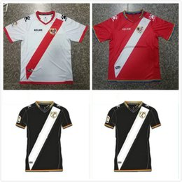 Wholesale Jersey Wholesale Thailand - 2017 Rayo Vallecano football jersey shirt 2018 Kakuka RAY good Abdoulaye Manucho LFP shirts ACCUEIL top quality Thailand jersey